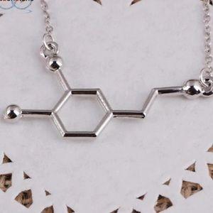 Dopamine Biochemistry Necklace
